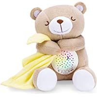 BEREST Rechargeable Baby Sleep Soother Smile Bear, Mom's Heartbeat Baby Cry Sensor Lullabies & Shusher Sound Soother…