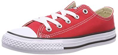 3417e52fca2f Converse Baby Chuck Taylor All Star Canvas Low Top Sneaker red 2 M US Infant