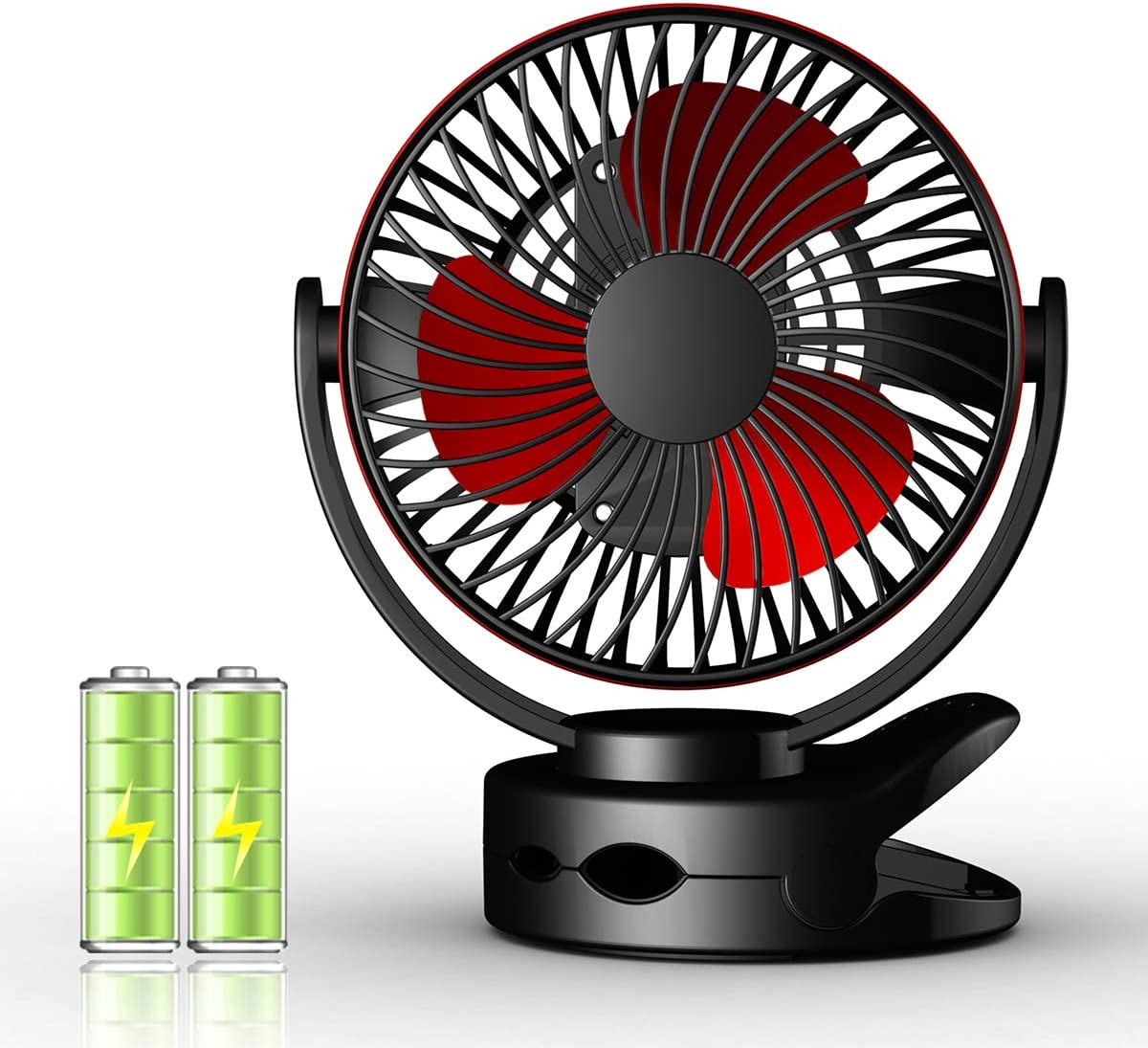 Mini Ventilador de Mesa Clip Ventilador Personal Portátil ...