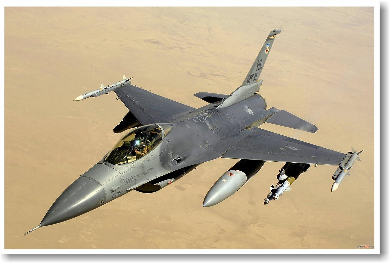 Military Aircraft F-16 Falcon Jet Airplane Aviation Wall Art Print Poster 16x20