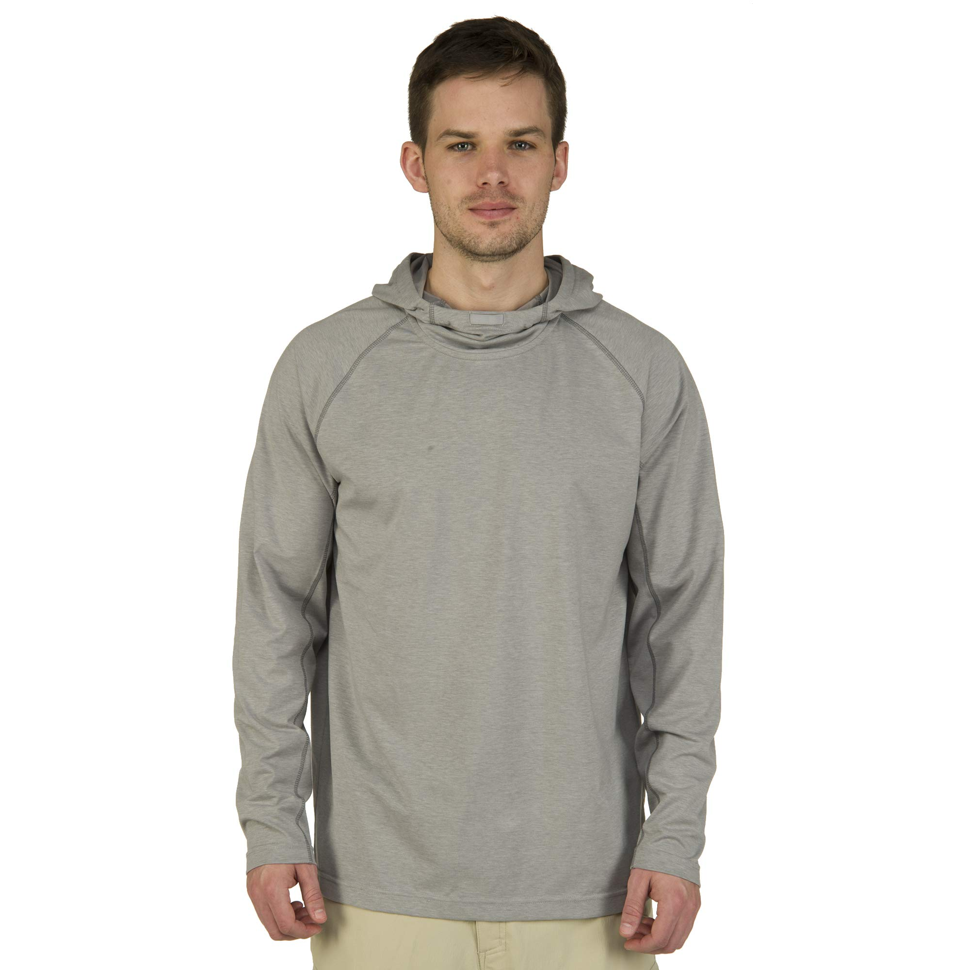 Ultimate Terrain Men's Trailhead Bug Repel Pullover Hoodie Alloy Heather (M)