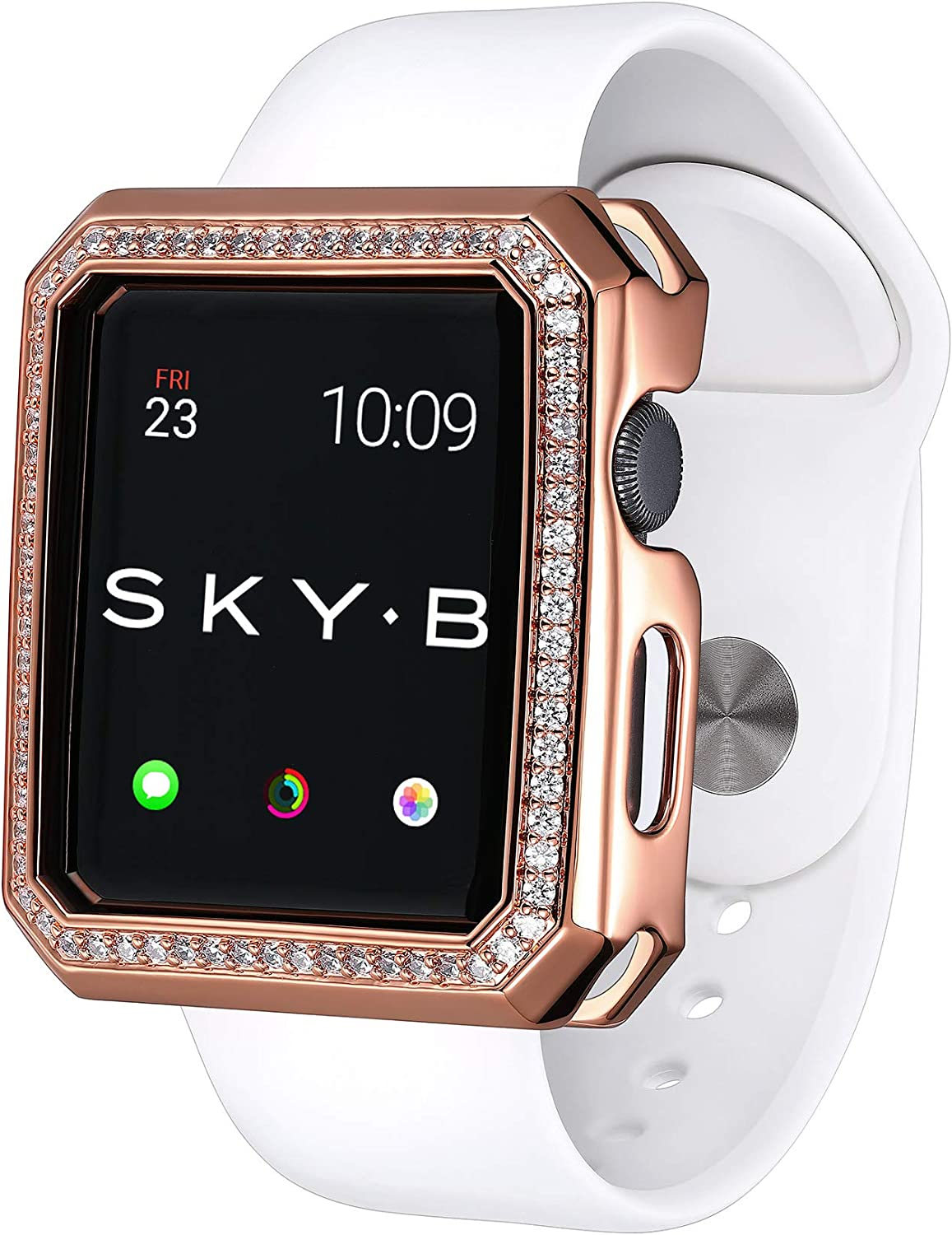 SKYB Deco Halo Rose Gold Protective Jewelry Case for Apple Watch Series 1, 2, 3, 4, 5 Devices - 42mm