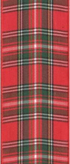 product image for Offray 558768 Fashion Plaid Craft Ribbon, 1-1/2-Inch Wide by 10-Yard Spool, Red