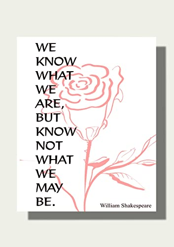 Shakespeare Quote Art Print Contemporary Art Inspirational Quote