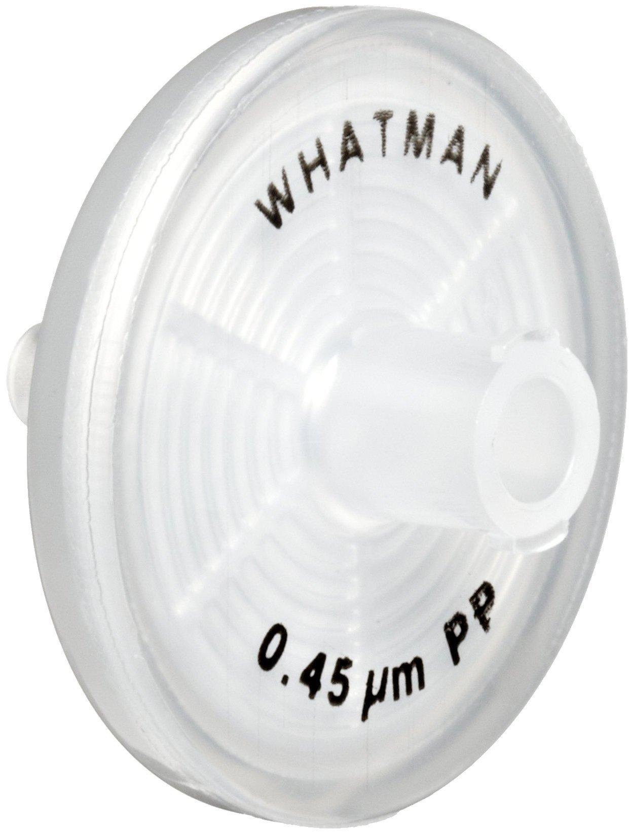 Whatman 6786-2504 depth Polypropylene Puradisc 25 Syringe Filter, 0.45 Micron (Pack of 50)