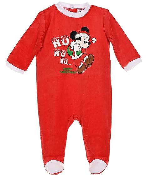 ec83f4e32935f Pyjama noël bébé Mickey  HO HO HO  Rouge de 3 à 23mois (6 mois ...