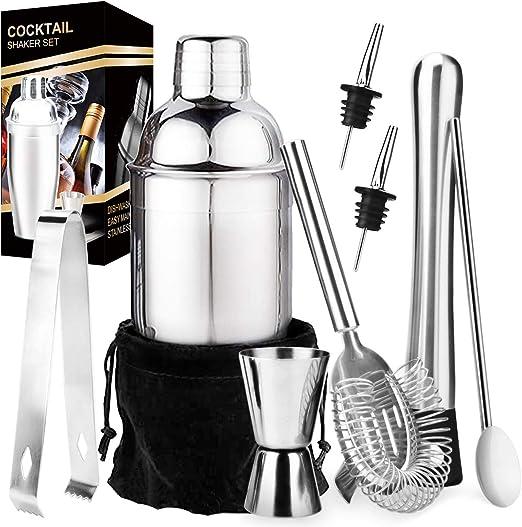Stainless Steel Cocktail Shaker Mixer Drink Bartender Martini Bar Tools Set Kit