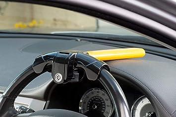 Xljh Coche Volante Bloqueo Anti Robo Auto Defensa Manillar Seguridad Embrague cerradurasBloqueo del Volante con Bloqueo en T: Amazon.es: Deportes y aire ...