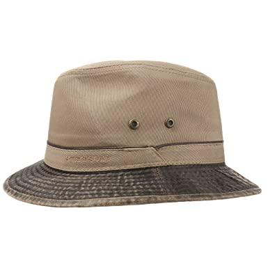 3b08ed74f57 Stetson UV Protection Cotton Hat Sun (XL (60-61 cm) - Dark Beige ...