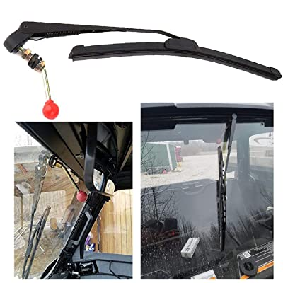 UTV Manual Wiper Hand Operated Windshield Wiper for Polaris Ranger 570 800 900 1000, Polaris RZR 800 900 1000 XP, Polari General 1000 Can Am Kawasaki Honda Pioneer Golf Cart Hand Operated Manual Wiper: Automotive
