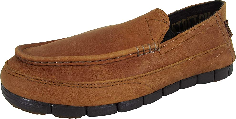 CROC Mens Stretch Sole Leather Loafer