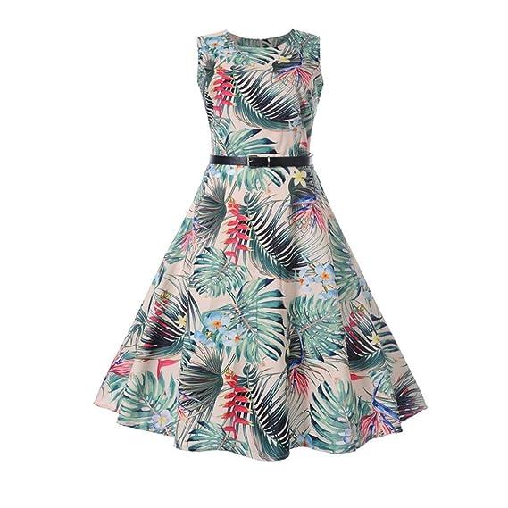 Lunaanco Vestidos de Mujer, vesitdo Verano Vestido Largo,Lirio de Agua de Fiesta para