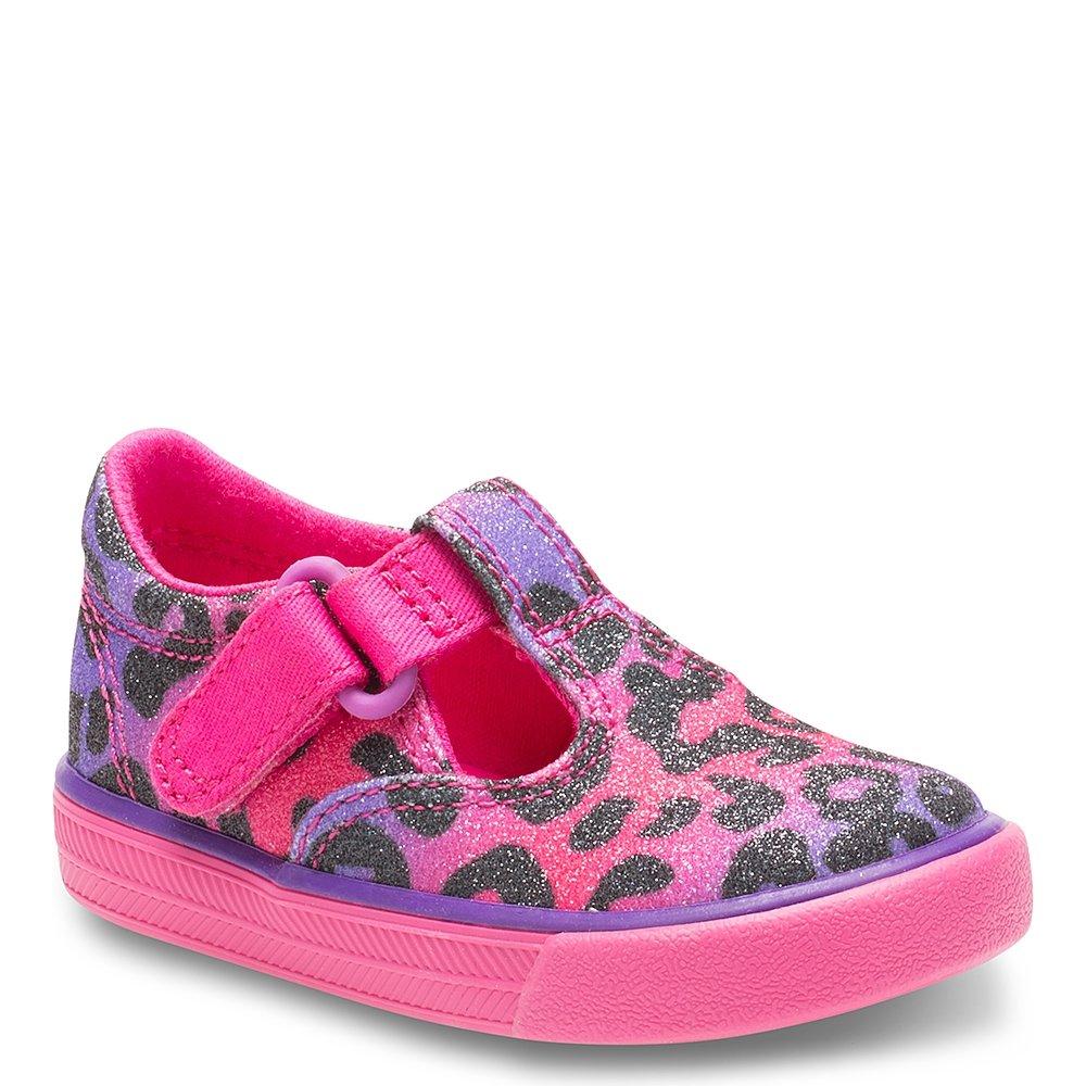 Keds Daphne T-Strap Sneaker (Toddler/Little Kid), Multi Leopard Sugar Dip, 4.5 M US Toddler