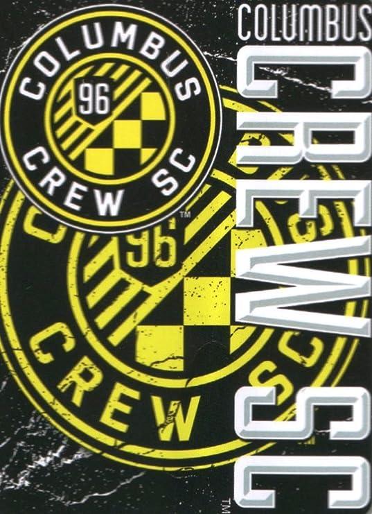 Yellow 50 x 60 Officially Licensed MLS Columbus Crew Scramble Plush Raschel Throw Blanket
