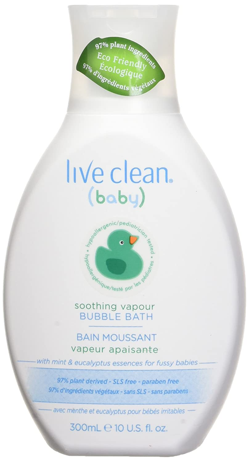 Live Clean 11LCN0172 Soothing Vapour Bubble Bath, Clear, Eucalyptus and Menthol, White, 300ml Belvedere Intl