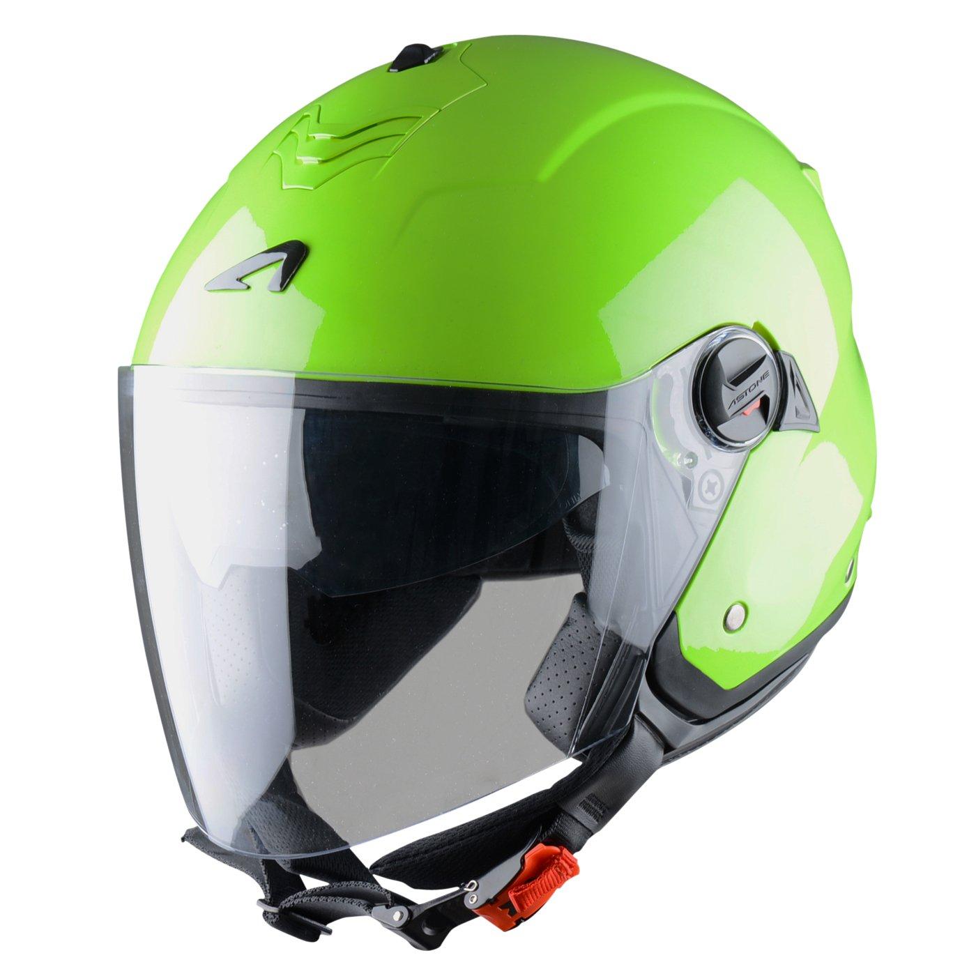 M Astone Motorcross Helmet Jet Mini Black Metallic