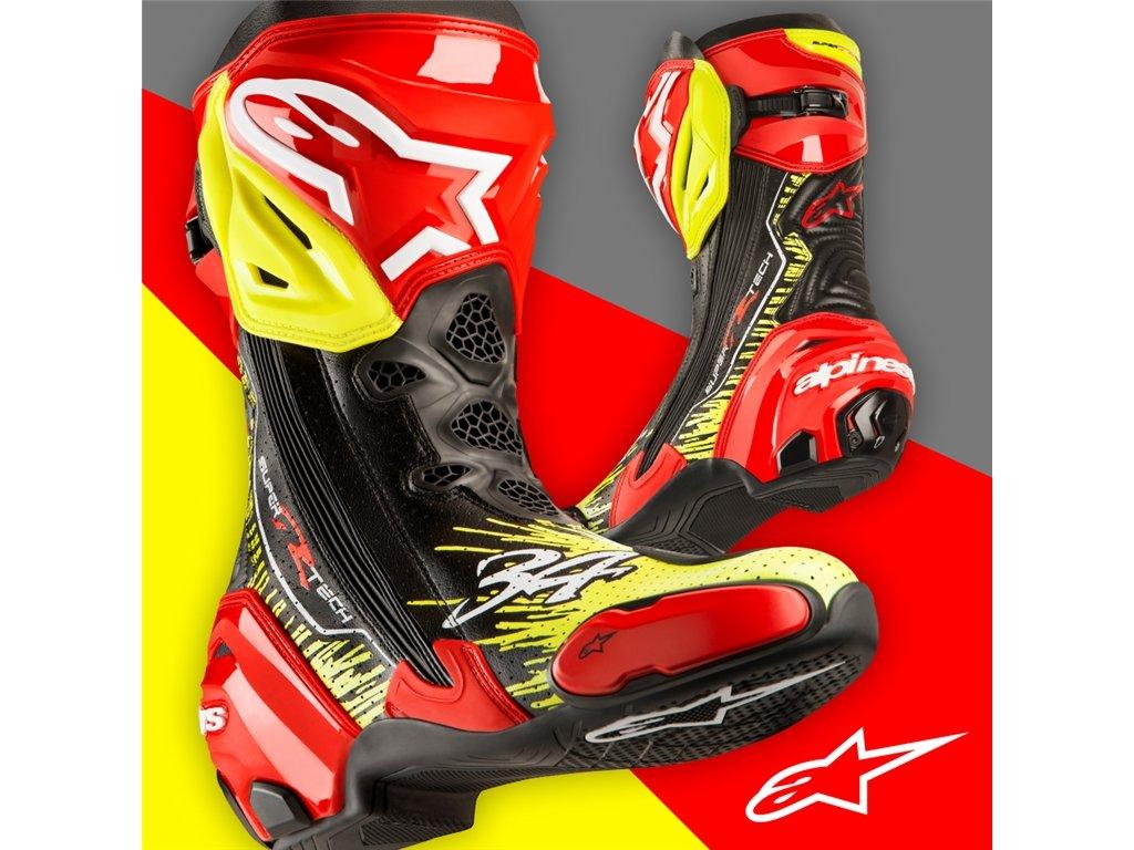 Botas de competici/ón Alpinestars Racing Supertech R New Kevin Schwantz 34 45