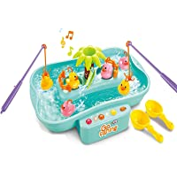 Vivir Fish Catching Game for Kids with Flashing Lights and Musical Melodies (Blue)