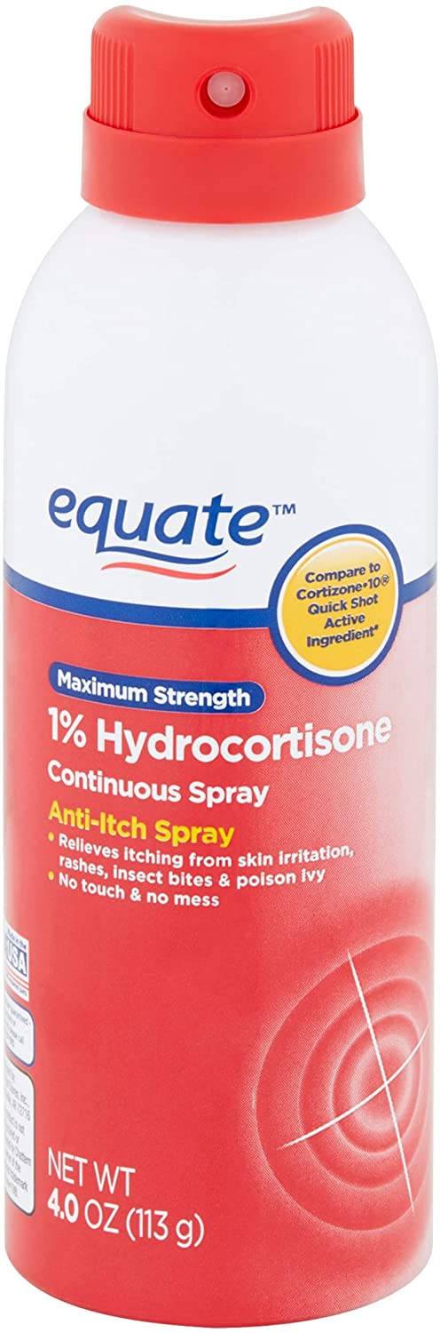 Equate Maximum Strength Anti-Itch Continuous Spray, 4.0 oz