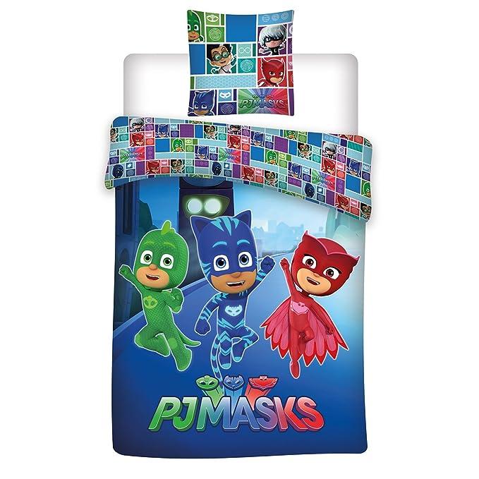 PJMask Juego de Cama Individual (Funda de edredón, Microfibra, Multicolor, 200 x 140 cm): Amazon.es: Hogar