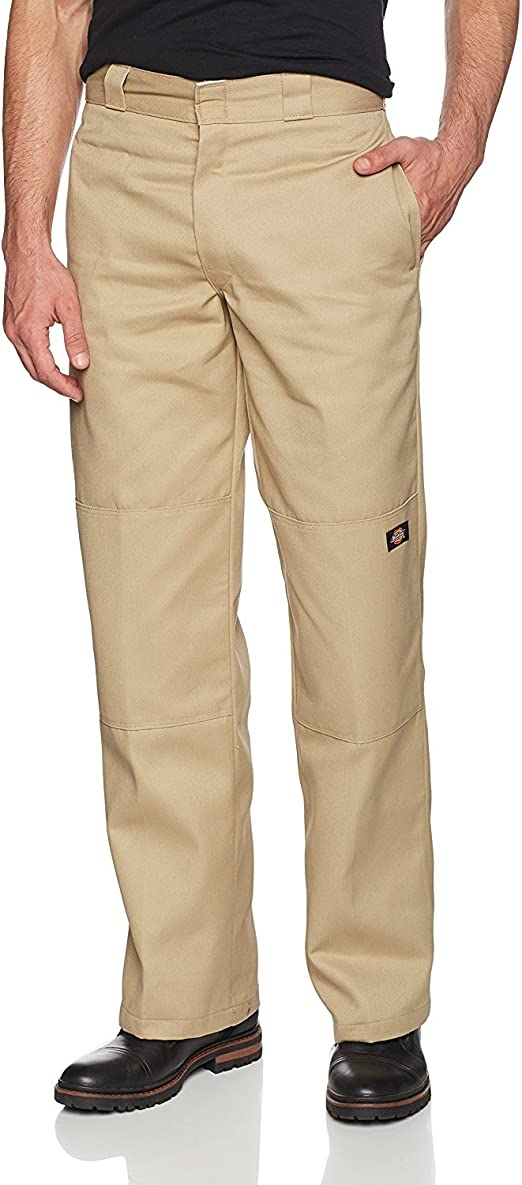 dickies mens relaxed fit Double knee khaki big tall 56x36 work or school pants