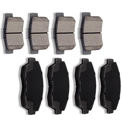 SCITOO 8pcs Front Rear Ceramic Brake Pads fit for 2010 2011 Honda Civic,1990 1991 1992 1993 1994 1995 1996 1997 Honda Accord,1997 1998 1999 Acura CL