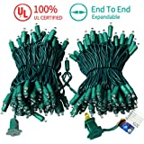 MZD8391 Upgraded 66FT 200 LED Christmas Lights Outdoor String Lights -100% UL Certified- Christmas Tree Lights Decoration for Wedding Party Patio Porch Garden, Warm White (END to END CONNECTABLE)