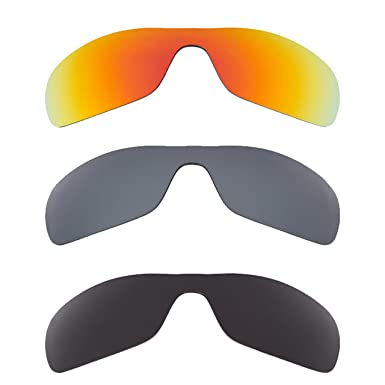 326c3f87a93 Image Unavailable. Image not available for. Color  Antix Replacement Lenses  Grey Black Iridium   Red by SEEK fits OAKLEY Sunglasses