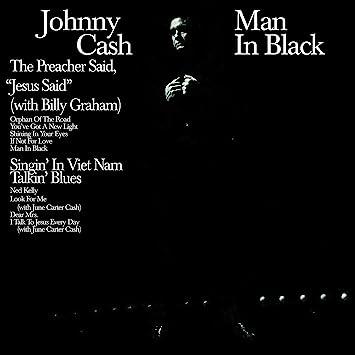 Johnny Cash Man In Black 180 Gram Audiophile Translucent Blue Vinyl Limited 45th Anniversary Edition Gatefold Cover Amazon Com Music