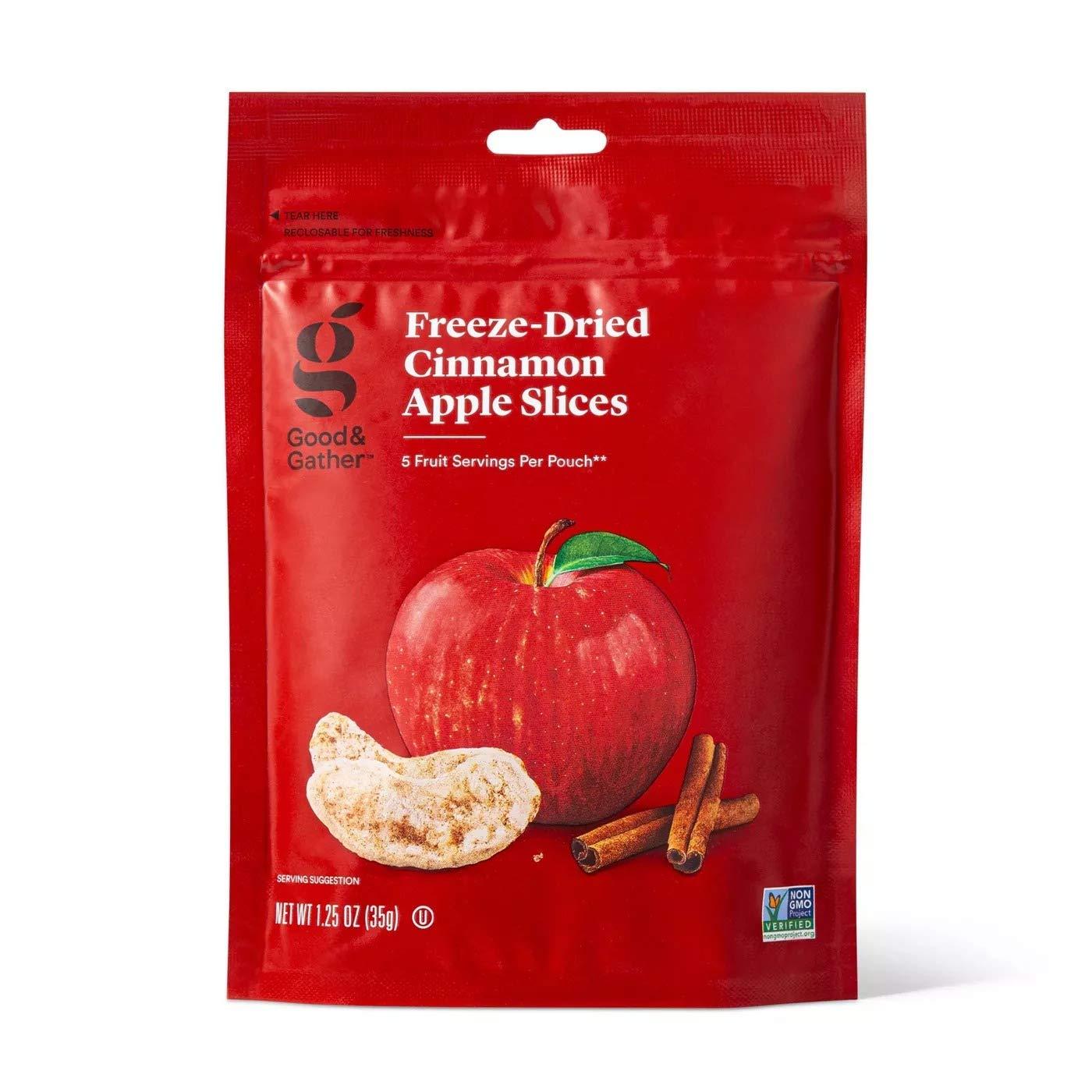 Good & Gather- Freeze Dried Cinnamon Apple Slices - 1.25oz