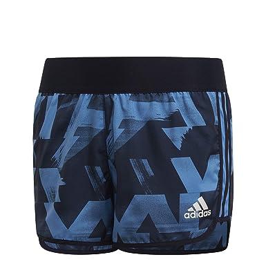adidas - Pantalones Cortos de Entrenamiento para niñas Azul Lucky ...
