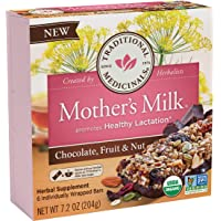 Traditional Medicinals Mother's Milk Chocolate, Fruit & Nut Lactation Bars, 6 Count...