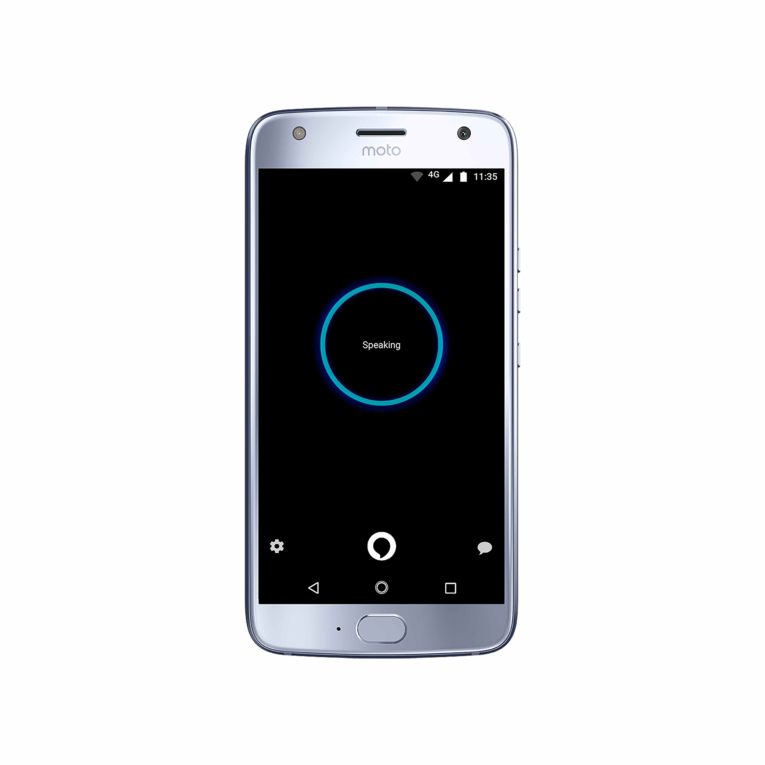 Moto X (4th Generation) - with hands-free Amazon Alexa – 32 GB - Unlocked – Sterling Blue - Prime Exclusive