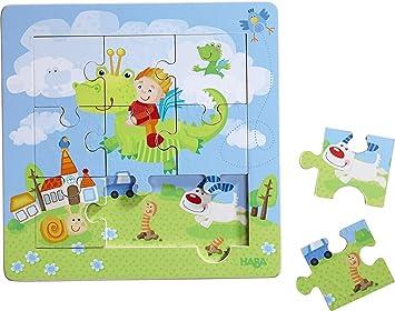 Holzrahmen-Puzzle Drachenritter Spiel Deutsch 2014 Geduldspiel