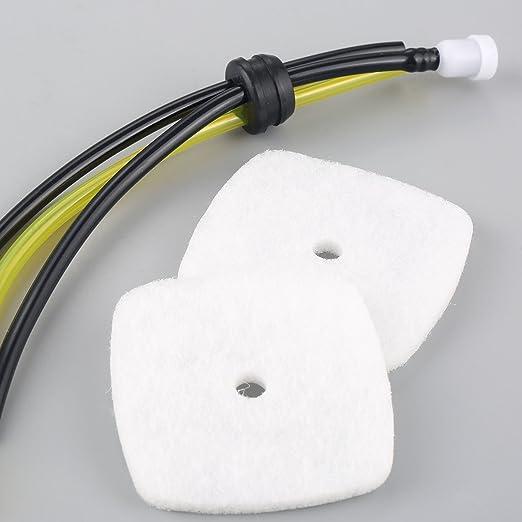 Hicello Air Filter Spark Plug Kit for Mantis Echo Tiller 7222 7225 C1U-K82 Zama C1UK54A