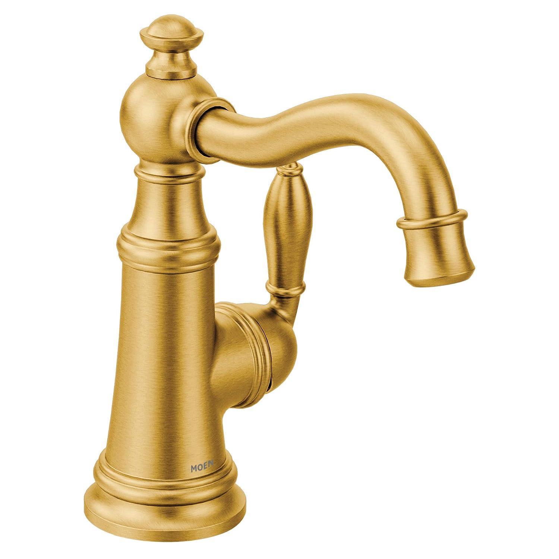 Moen S62101BG Weymouth Bar Faucet Brushed Gold
