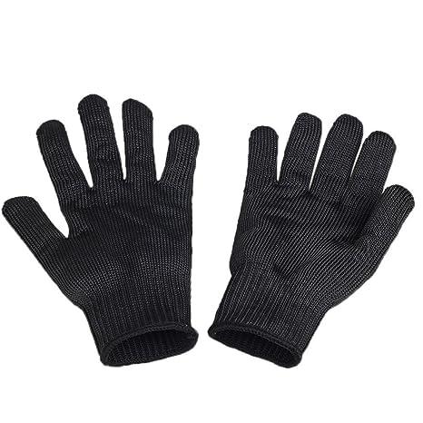 Strong Edelstahl wire Handschuhe Schnittfest Arbeitshandschuhe safety gloves DE