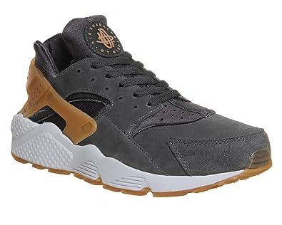 Nike Herren Air Huarache Anthracite Grau Mid Braun Sneaker 318429 090