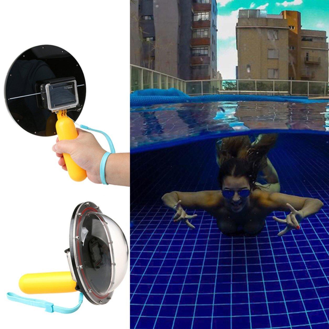 Hot Dome Port Underwater Diving Camera Lens Cover for Gopro Cameras(Color:Black) B07KP81FM4