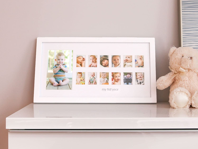 Amazon.com : Pearhead My First Year Photo Moments Baby Keepsake ...