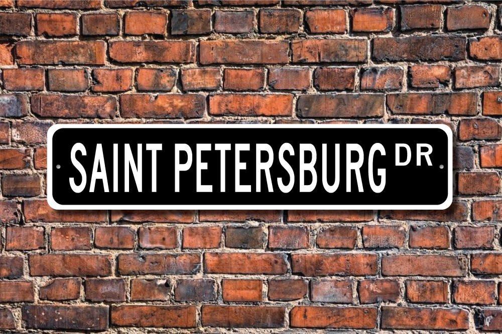 Stree Deko Schilder Sankt Petersburg Schild Sankt Petersburg Besucher Russische Stadt Native Metall Wandschild Funny