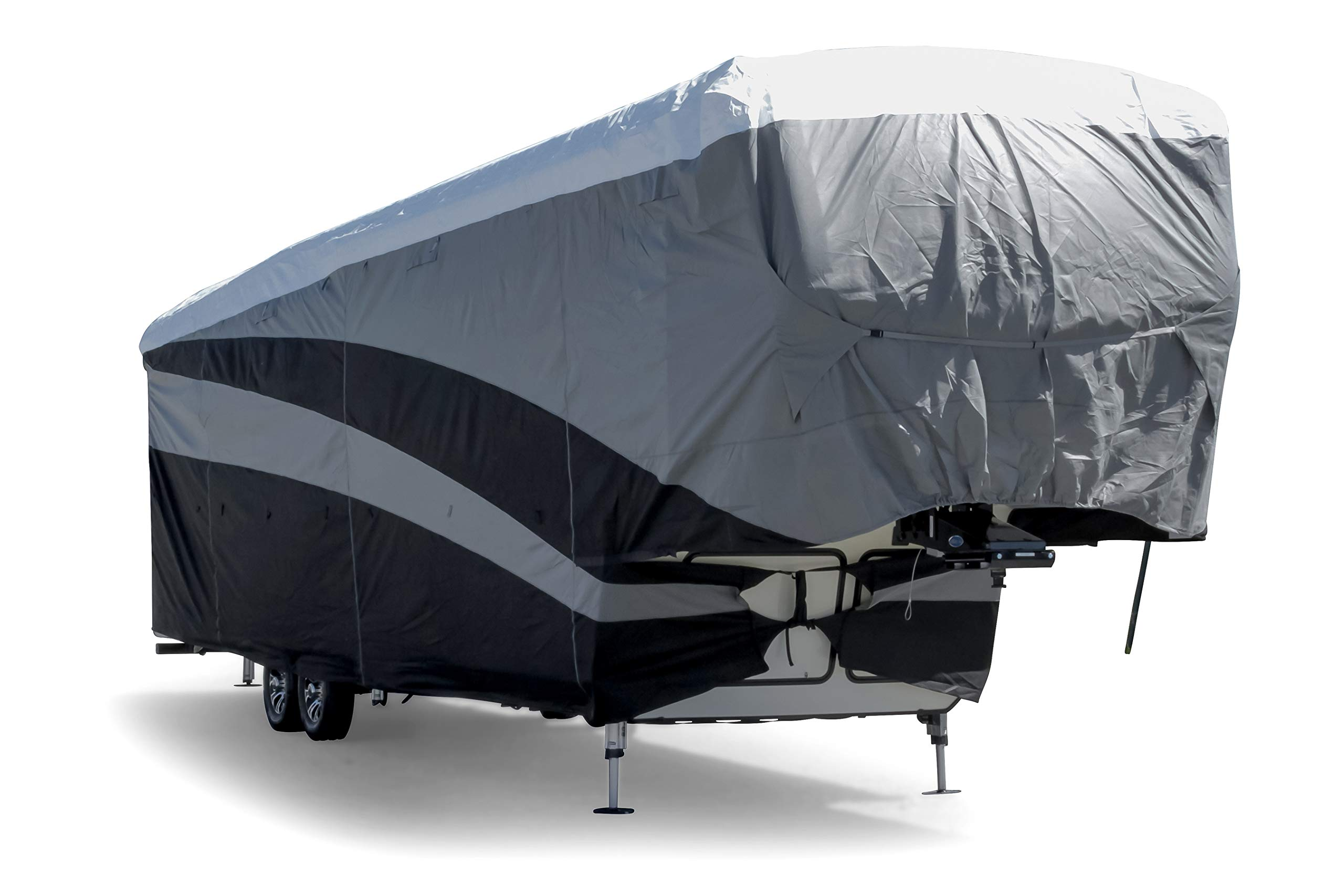 Camco ULTRAGuard Supreme RV Cover-Extremely Durable Design Fits Fifth Wheel Trailers 34' -37', Weatherproof with UV Protection and Dupont Tyvek Top (56150) by Camco (Image #1)