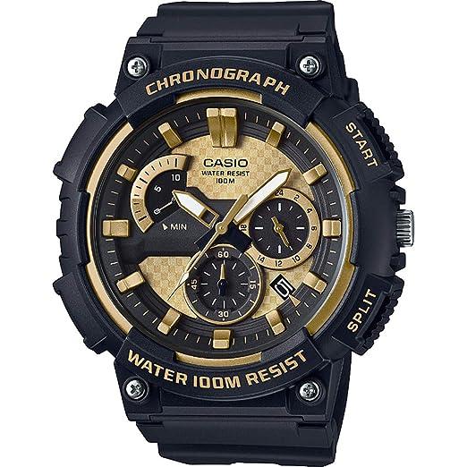 Casio Reloj Analogico para Hombre de Cuarzo con Correa en Acero Inoxidable sólido MCW-200H-9AVEF: Amazon.es: Relojes