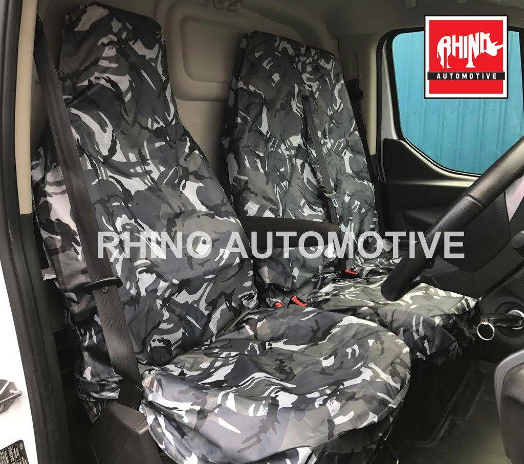 Rhino Automotive© Heavy Duty Waterproof Van Seat Covers Grey Camo 2+1 RW0101 RHINO AUTOMOTIVIE