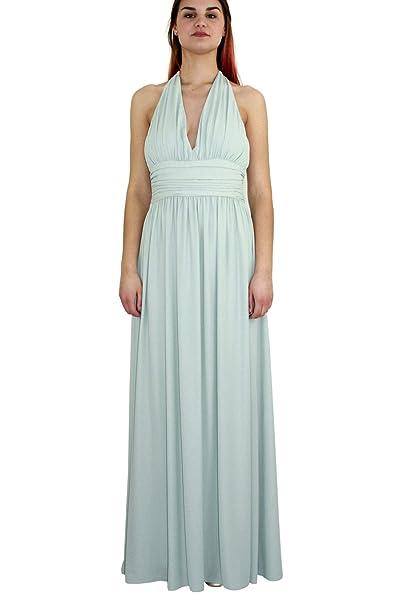 Kocca Abito Lungo Greca Variante 52015 Colore Verde Tiffany Collezione  Primavera-Estate 2018  Amazon.it  Abbigliamento 94fa960bd34