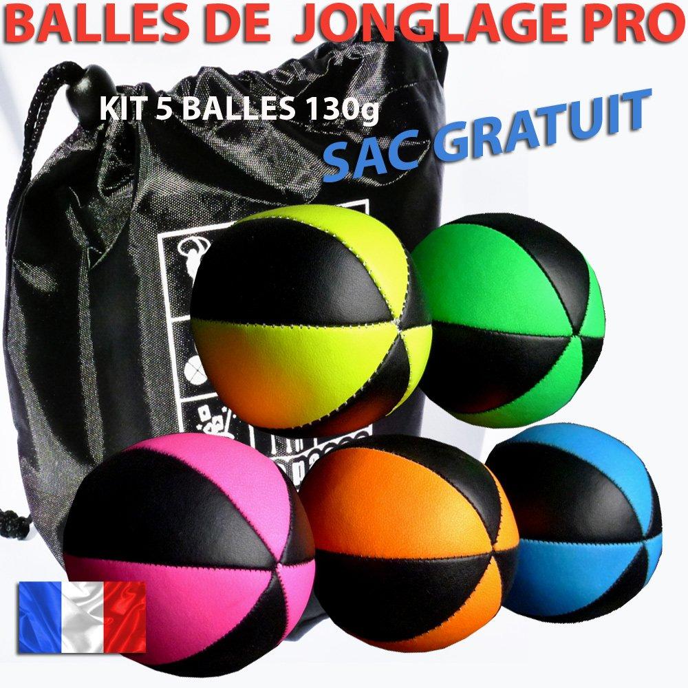 Palline da Giocoliere, Set professionale, 6 tracce, Velluto, 5 pezzi, con borsa per il trasporto 6tracce 5pezzi PassePasse Sarl bagbn+B6FBIx5