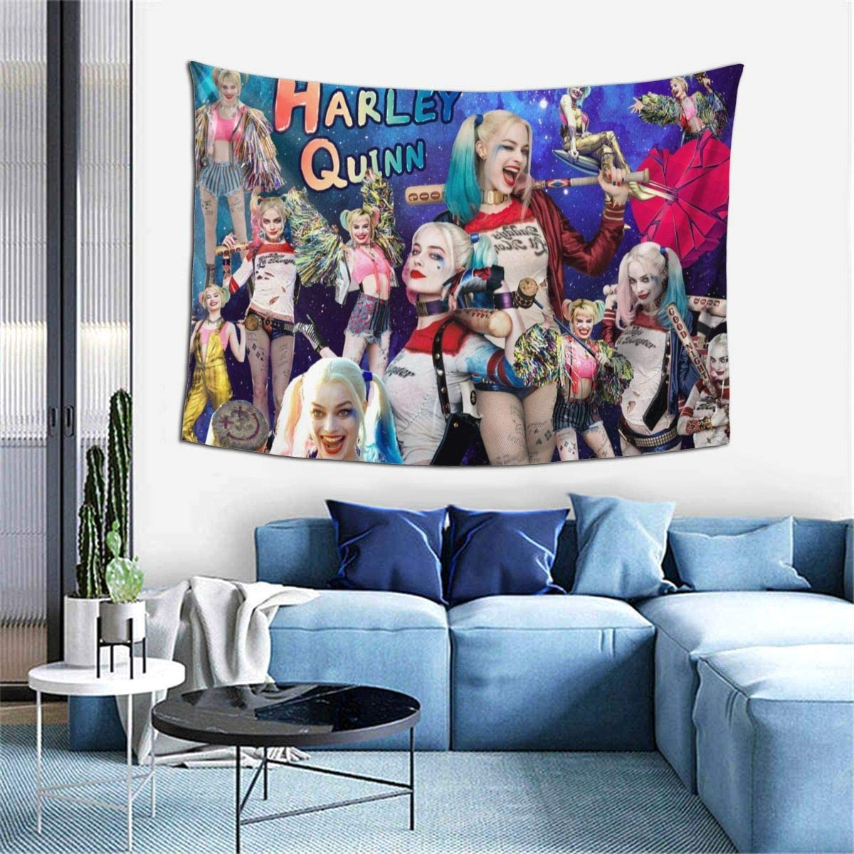 GIPHOJO Micro Blanket Harley Quinn Wall Hanging Bedding Tapestry Decorations Dorm 60x40 Inches / 150x100 Cm