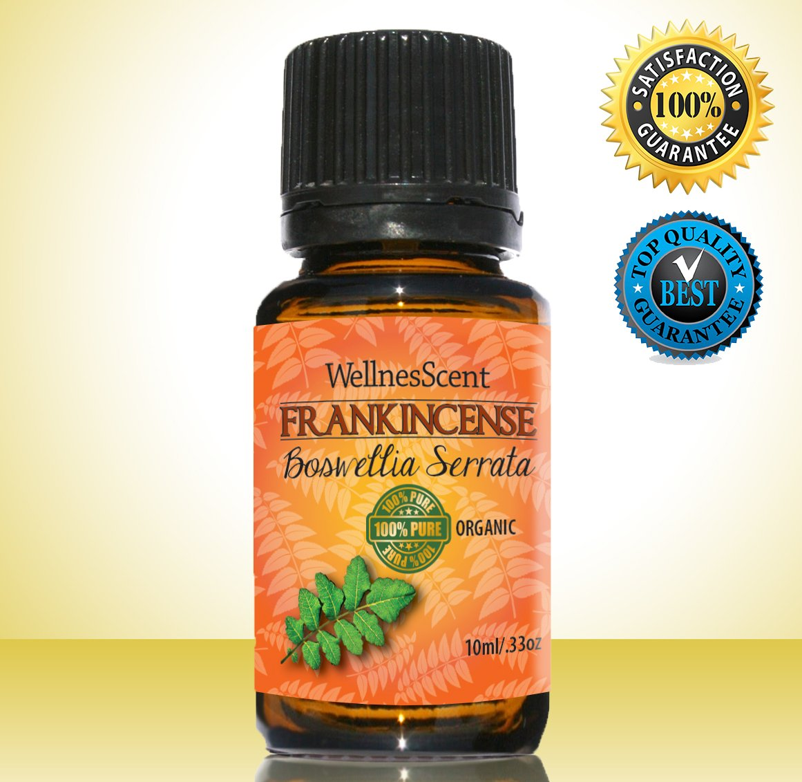 Frankincense Essential Oil - 100% Pure & Natural Therapeutic Grade - Premium Quality Oil 10 Ml (Boswellia Serrata)