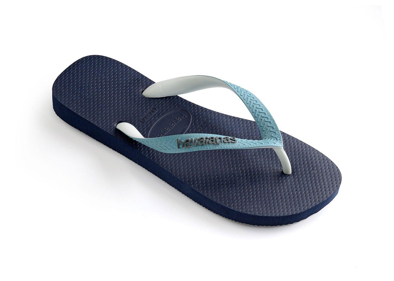 Havaianas Unisex Top Mix Rubber Flip-Flops Navy Blue-Mineral Blue Size EU 43/44 - Bra 41/42 - US M9