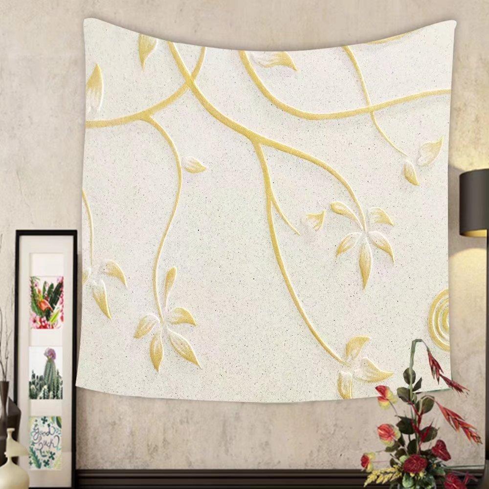 Lee S. Jones Custom tapestry low relief cement thai style handcraft of rose flower by Lee S. Jones
